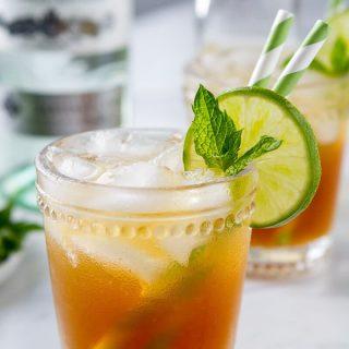 Spiced Ginger Rum Fizz